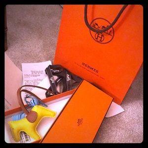 Hermès Milo Lambskin Rodeo Bag Charm